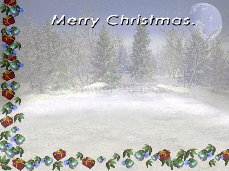 Feliz Natal. ilustração stock