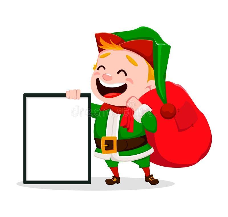 Feliz Natal Ajudante engraçado de Santa Claus ilustração do vetor