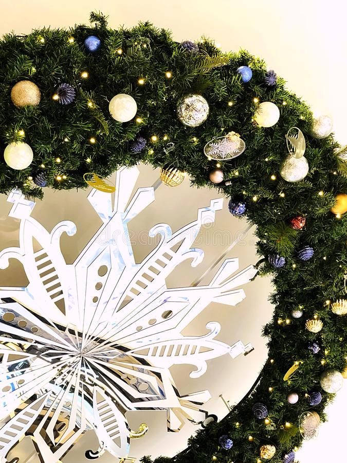 Feliz Natal alegre imagem de stock