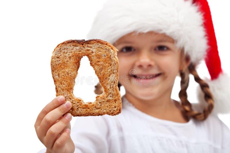 Feliz Natal com abundância do alimento foto de stock royalty free