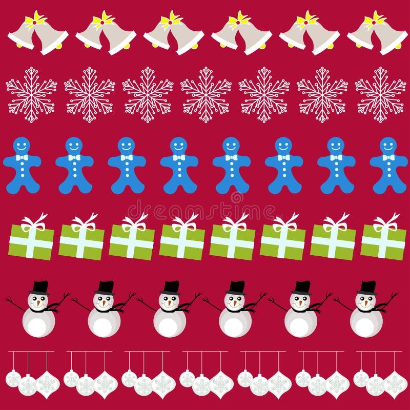 Feliz Natal com elementos das decorações ilustração do vetor