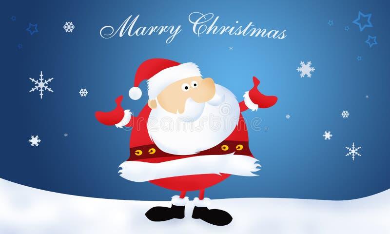 Feliz Natal de Papai Noel ilustração royalty free