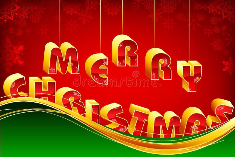 Feliz Natal de suspensão ilustração royalty free
