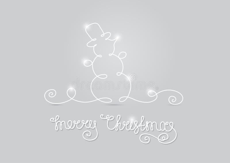 Feliz Natal do boneco de neve do cartão ilustração stock