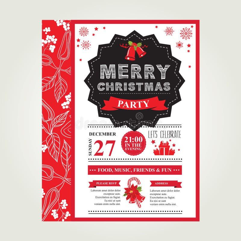 Feliz Natal do cartaz Ilustração do vetor ilustração do vetor