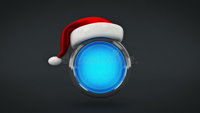 Feliz Natal do conceito do botão do computador 3d ilustração do vetor