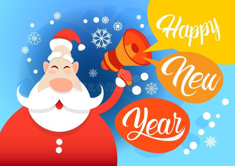 Download Feliz Natal Do Feriado Do Ano De Santa Claus Hold Megaphone Happy New Ilustração do Vetor - Ilustração de comemore, cartoon: 80102545