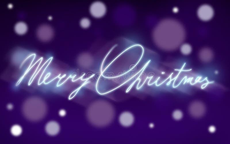 Feliz Natal do texto. ilustração stock