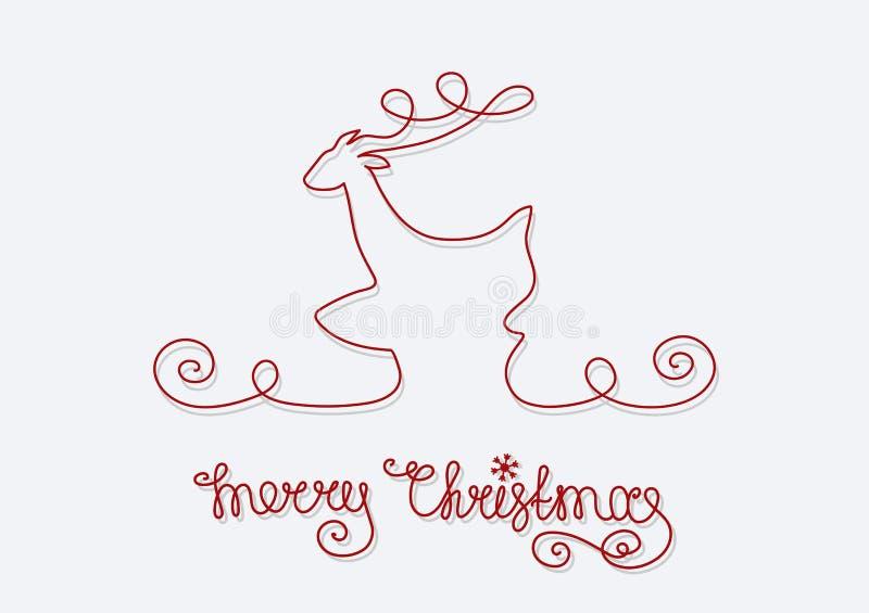 Feliz Natal dos cervos do cartão ilustração stock