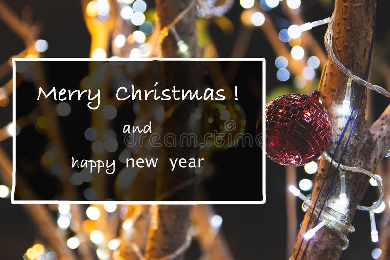 Feliz Natal dos cumprimentos fotos de stock