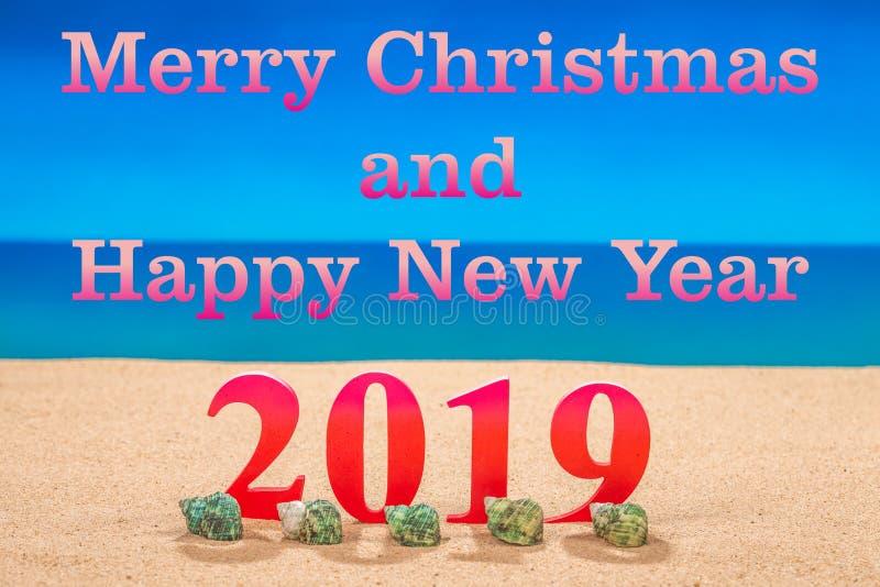 Feliz Natal e ano novo feliz 2019 fotos de stock
