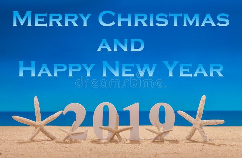 Feliz Natal e ano novo feliz 2019 foto de stock royalty free