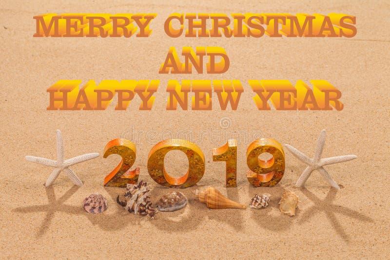 Feliz Natal e ano novo feliz 2019 imagens de stock royalty free
