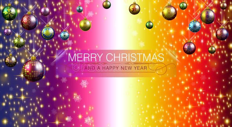 Feliz Natal e ano novo feliz 2015 ilustração stock