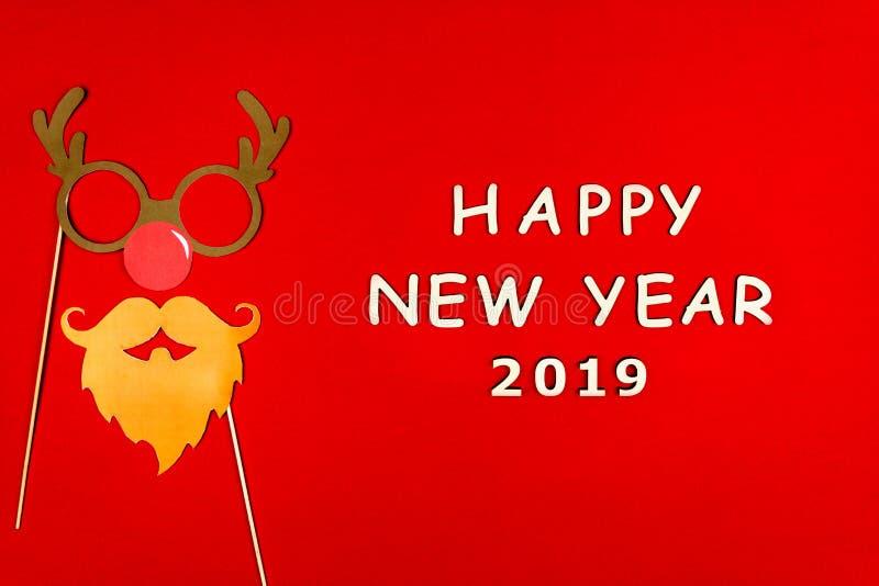 Feliz Natal e fundo feliz do ano 2019 novo imagem de stock