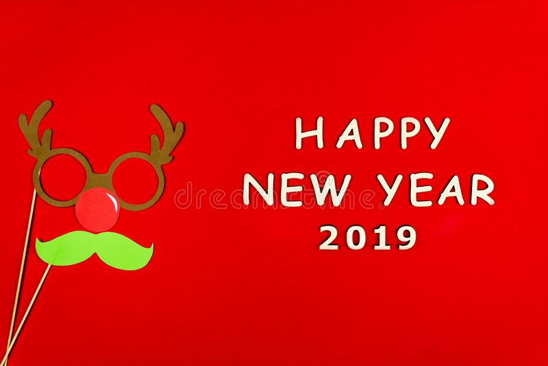 Feliz Natal e fundo feliz do ano 2019 novo fotografia de stock royalty free