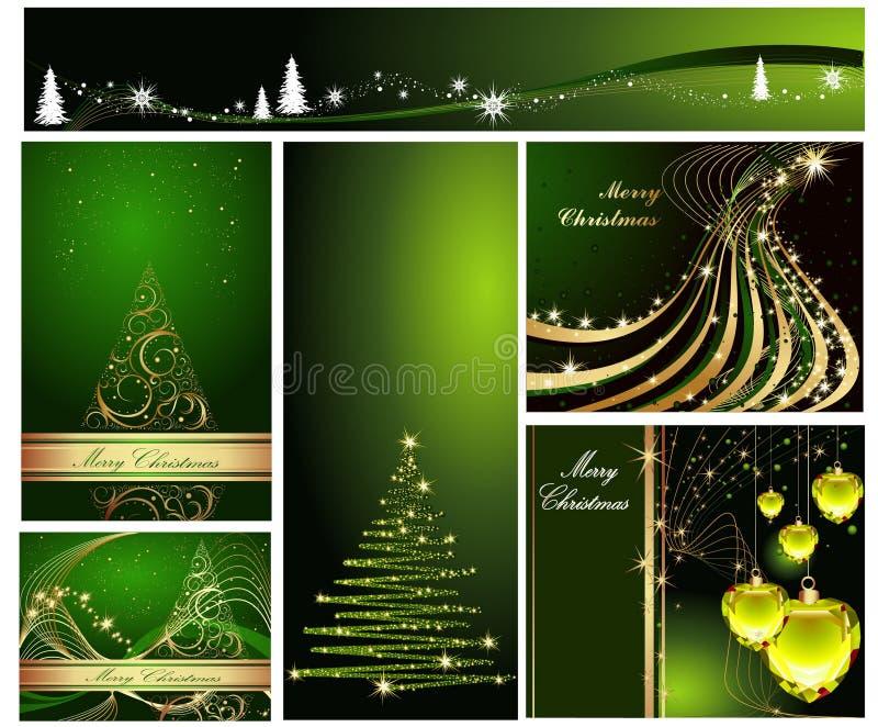 Feliz Natal e novo feliz ilustração stock