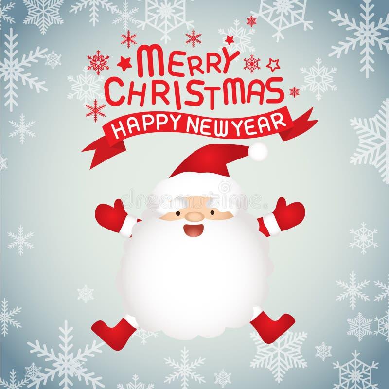 Feliz Natal e Papai Noel fotografia de stock royalty free