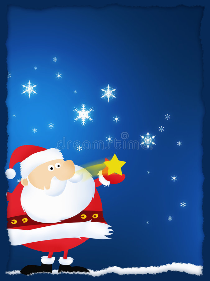 Feliz Natal e Papai Noel ilustração stock