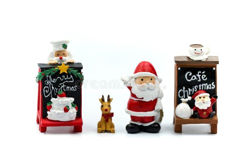 Feliz Natal e povos diminutos do ano novo feliz: Crianças w fotos de stock