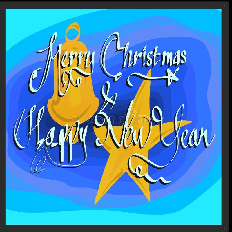 Feliz Natal e sinterklas do ano novo feliz azuis fotos de stock royalty free