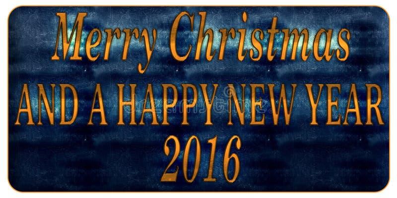 Feliz Natal e um ano novo feliz 2016 ilustração royalty free