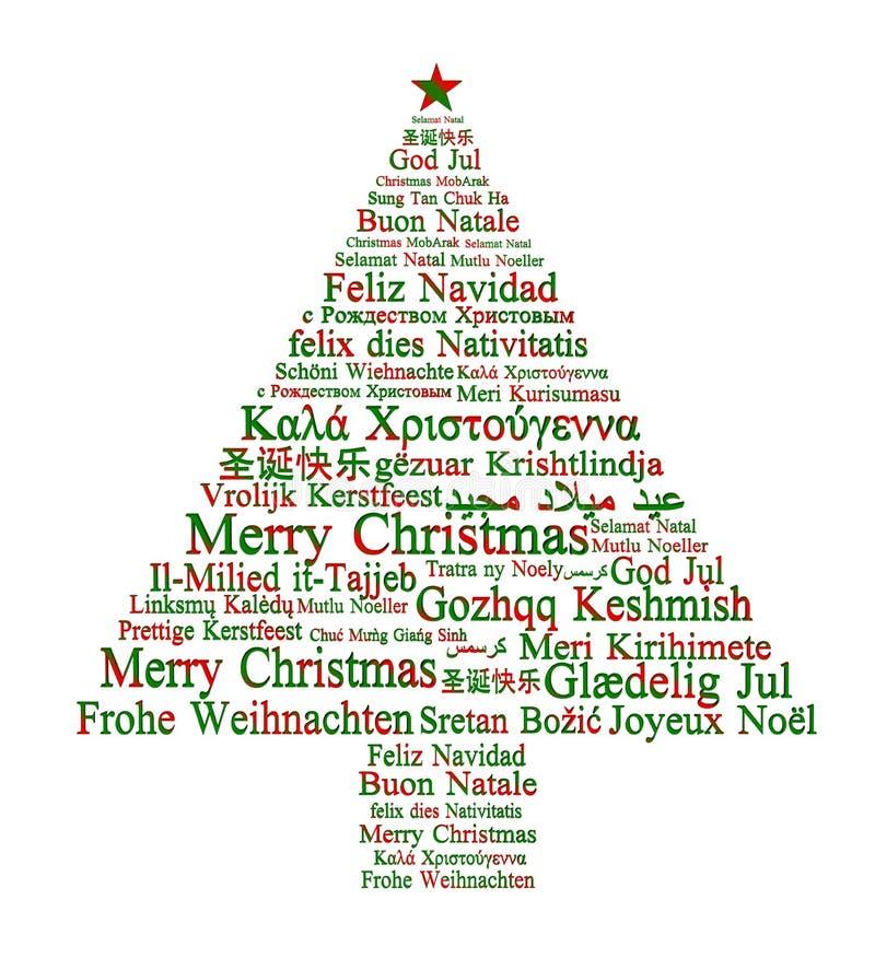 Feliz Natal em línguas diferentes ilustração royalty free