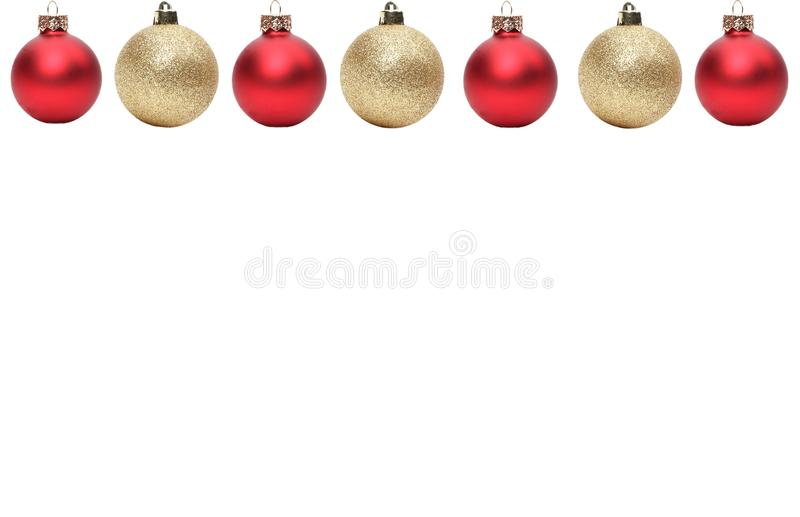 Feliz Natal na frente de um fundo branco imagem de stock