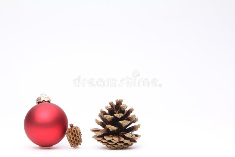 Feliz Natal na frente de um fundo branco fotografia de stock royalty free