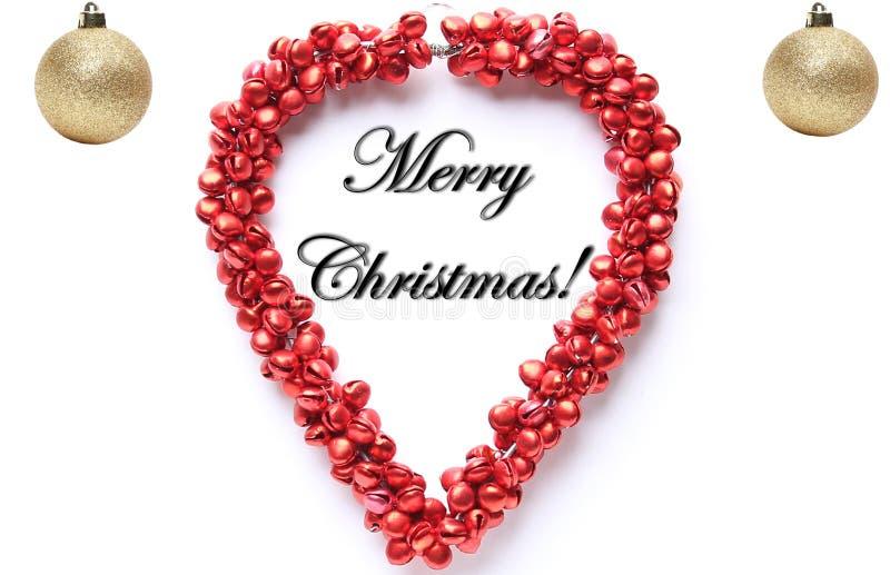 Feliz Natal na frente de um fundo branco fotos de stock royalty free