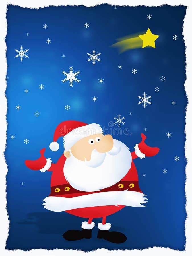 Feliz Natal Papai Noel ilustração royalty free