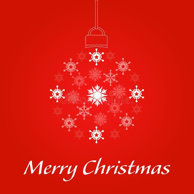 Feliz Natal Showflake foto de stock