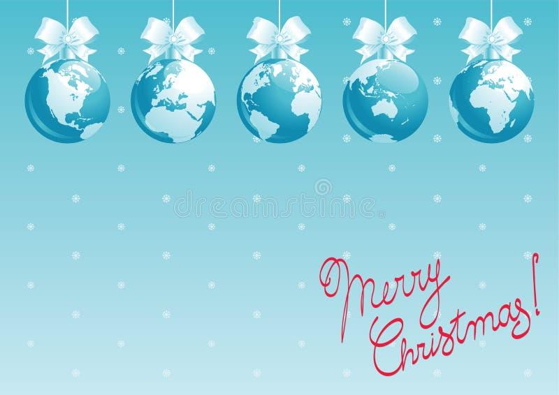 Feliz Natal, todo o mundo! ilustração do vetor