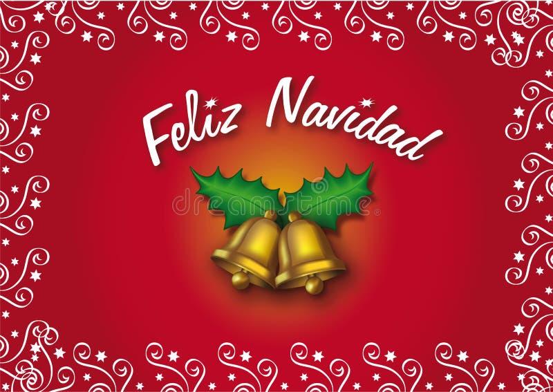 Feliz Navidad illustrazione vettoriale