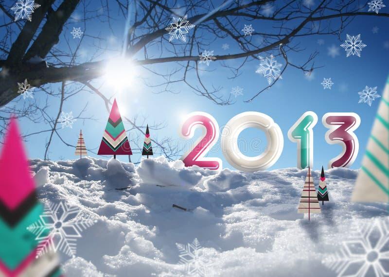 Feliz Navidad 2013 stock de ilustración