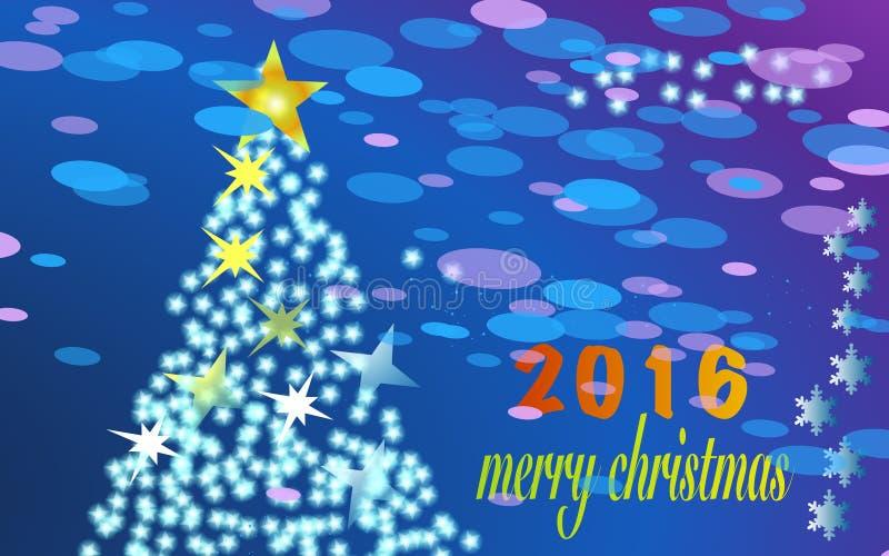 Feliz Navidad 2016 imágenes de archivo libres de regalías