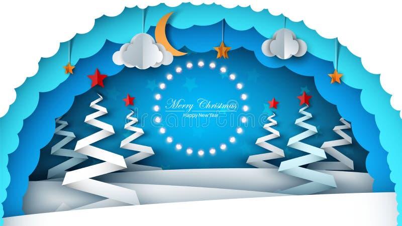 Feliz Navidad Feliz Año Nuevo stock de ilustración