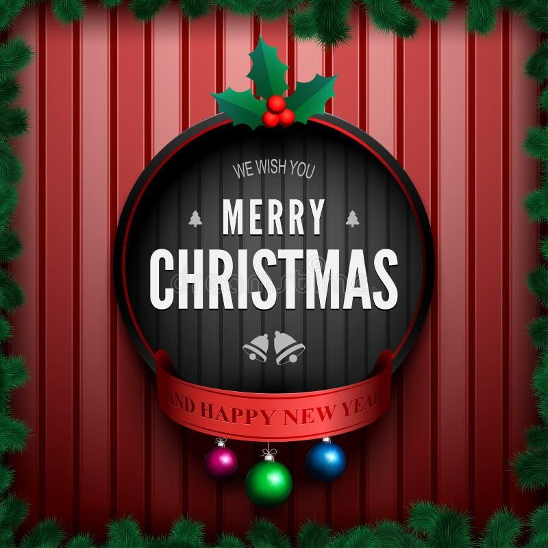 Feliz Navidad card-01 stock de ilustración