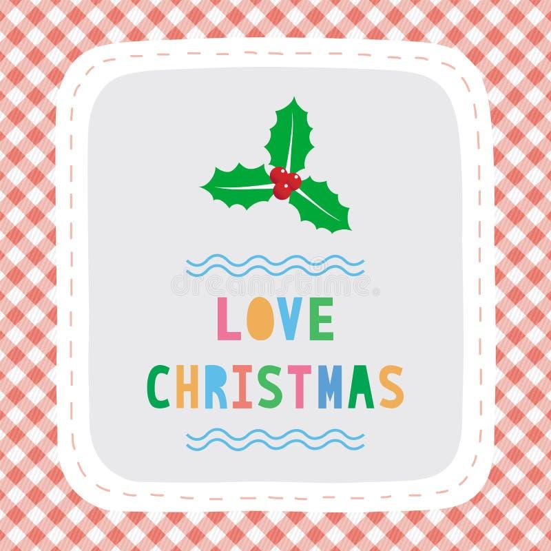 Feliz Navidad card34 de saludo stock de ilustración