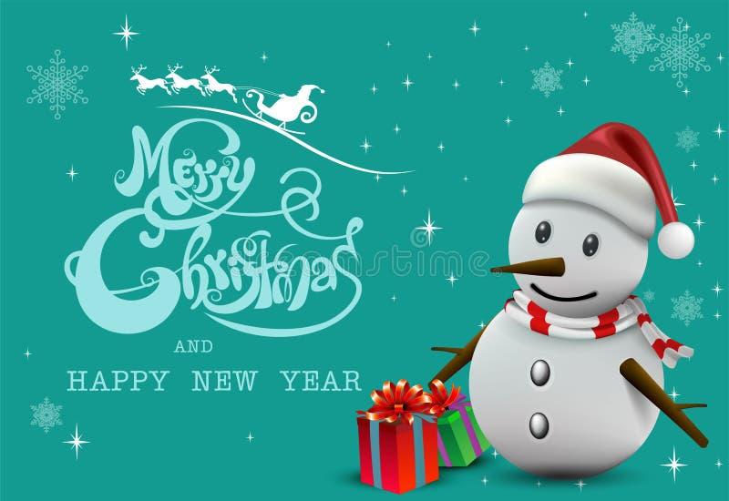 ¡Feliz Navidad! Compañeros de la feliz Navidad stock de ilustración