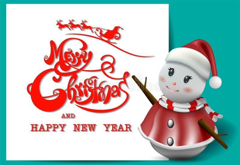 ¡Feliz Navidad! Compañeros de la feliz Navidad ilustración del vector
