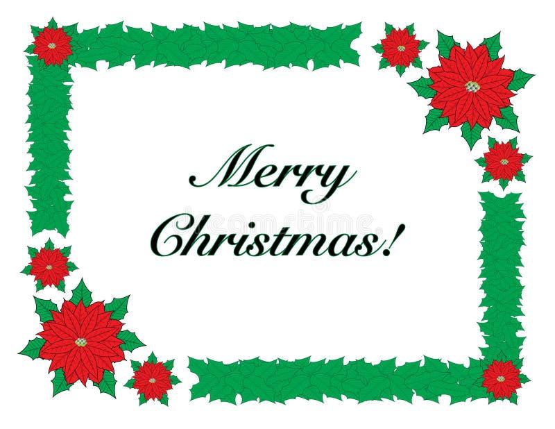 Feliz Navidad con el marco de la frontera fotos de archivo libres de regalías