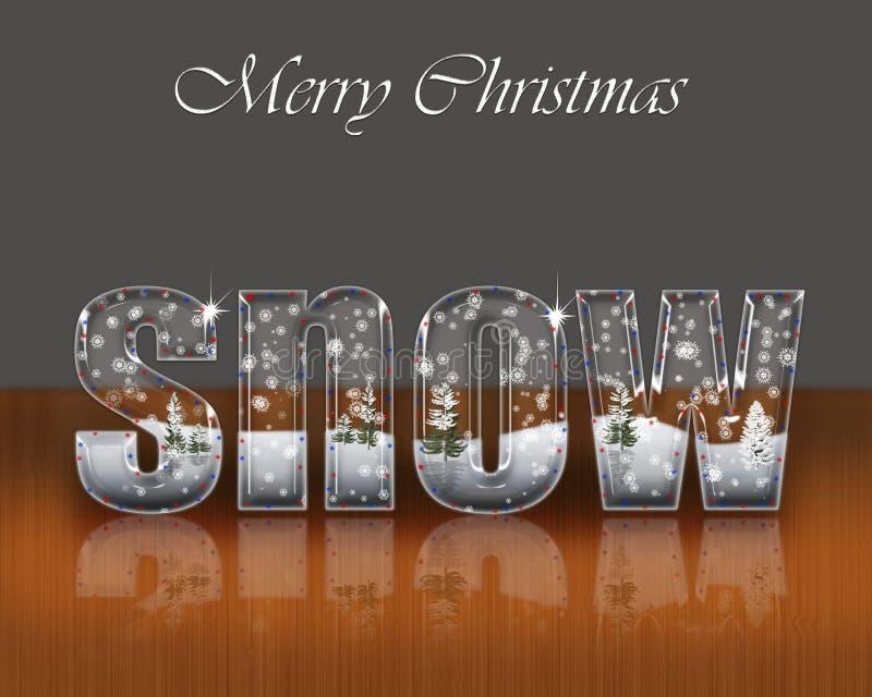 Feliz Navidad de la postal. libre illustration