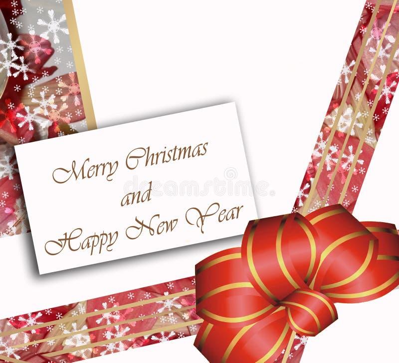 Feliz Navidad de la tarjeta y Feliz Año Nuevo foto de archivo libre de regalías