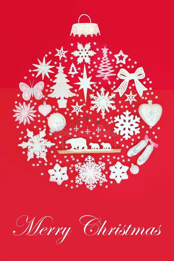 Feliz Navidad Decoraton fotos de archivo
