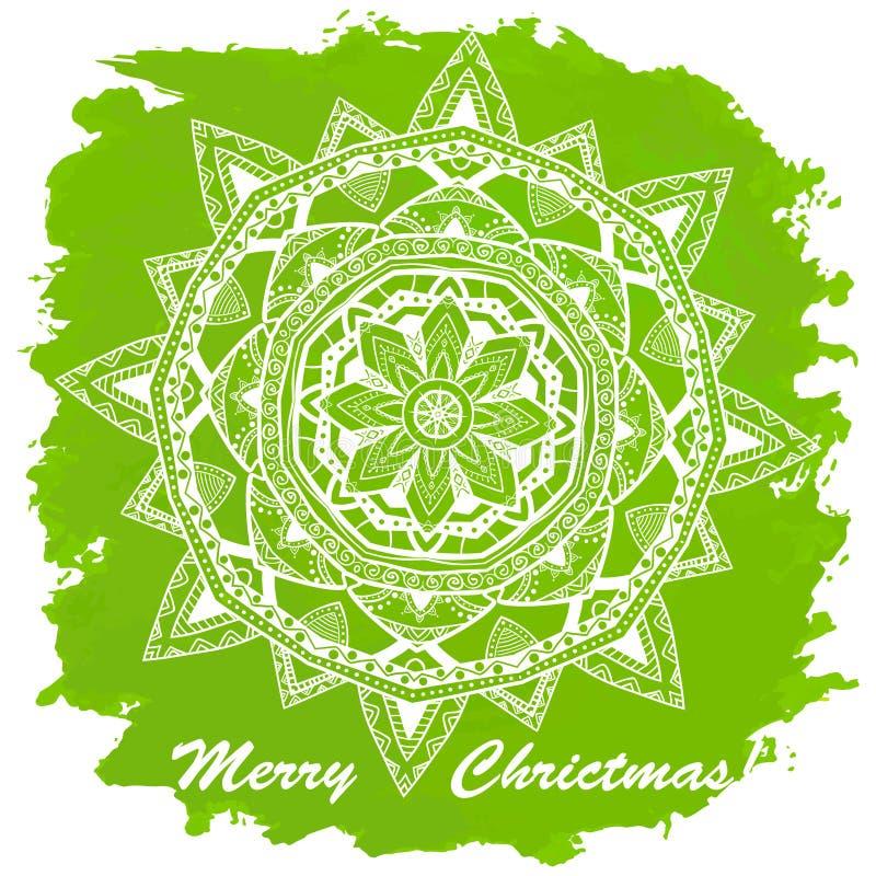 Feliz Navidad del vintage y Feliz Año Nuevo libre illustration