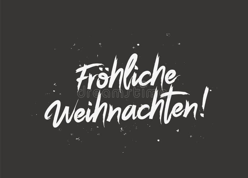 Feliz Navidad en alemán Frohliche Weihnachten libre illustration