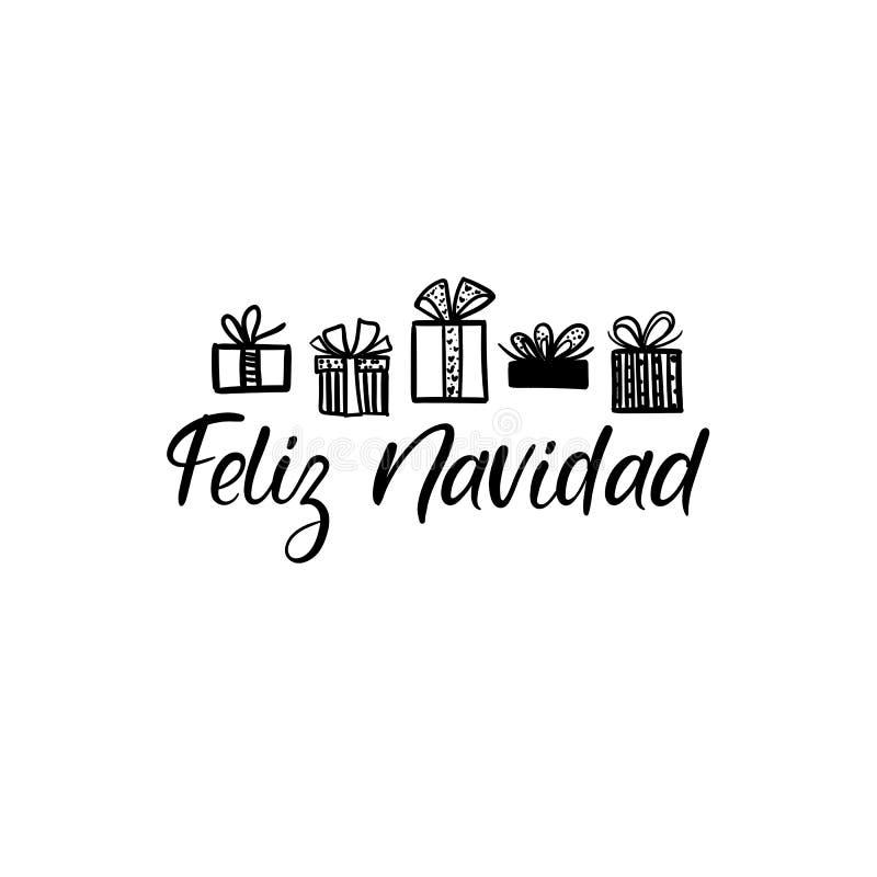 feliz navidad en espanol feliz navidad tarjeta de felicitacion de las letras de la mano vector caligrafia moderna ilustracion del vector ilustracion de felicitacion tarjeta 104027281 feliz navidad tarjeta