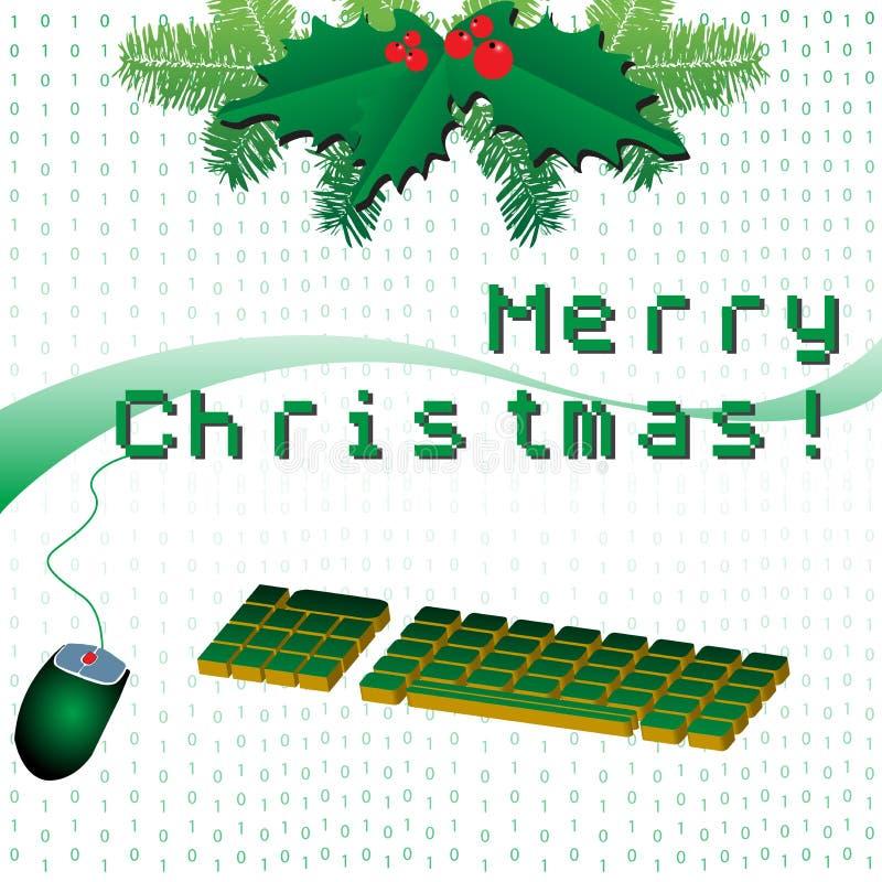 Feliz Navidad en pixeles stock de ilustración