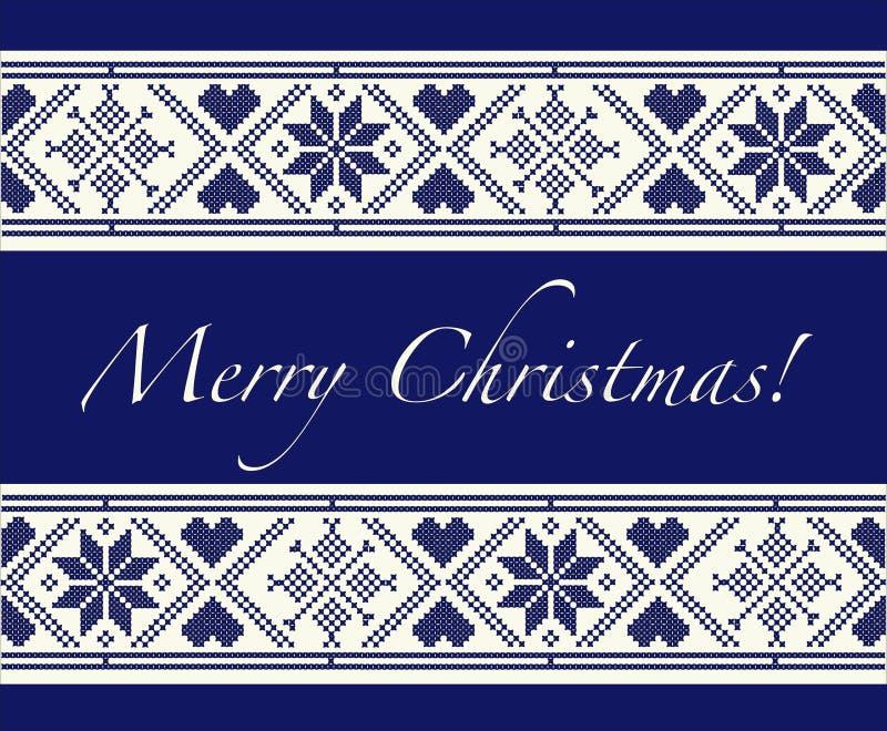 Feliz Navidad escandinava stock de ilustración